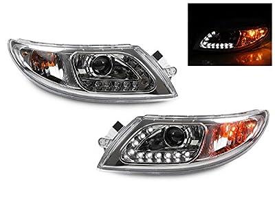CPW (tm) 2002-2012 International Chrome LED Strip Truck Headlight Set for 4100 4200 4300 4400