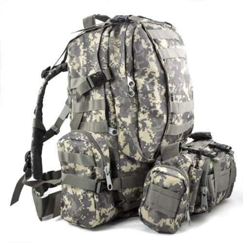TOOGOO (R) 50 L Taktischer Aussenmilitaer Rucksack Camping Tasche - AUC-Tarnung