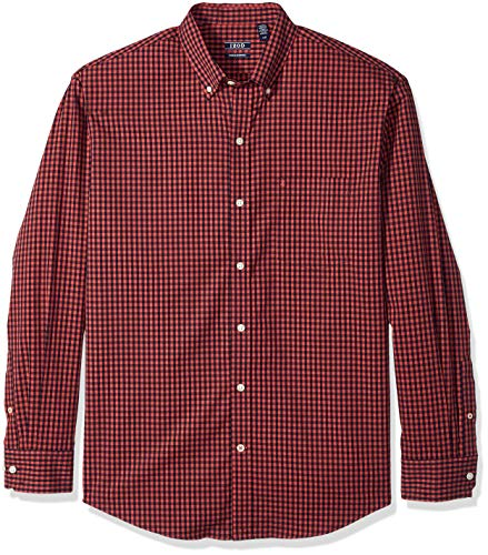 IZOD Men's Premium Performance Natural Stretch Gingham Long Sleeve Shirt (Regular and Slim Fit) ()
