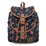 Loungefly x Marvel Captain America Floral Canvas Flap Backpack