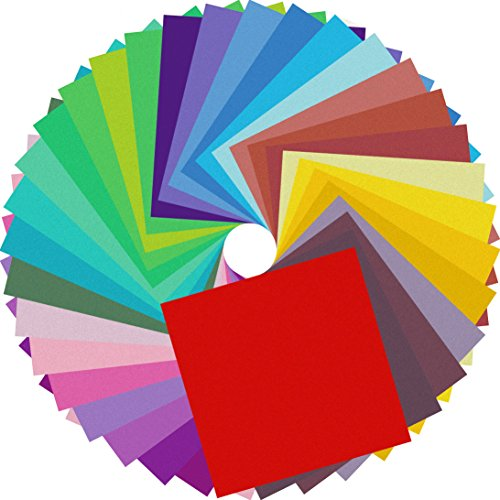 Origami Paper Double Sided Colored Papers 6 inch Square Sheets - 20 Vivid Colors - 160 Sheets for Art Projects