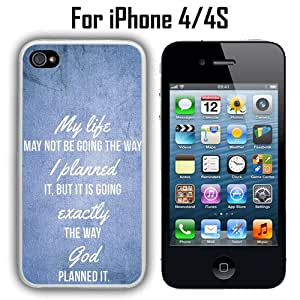 My Life May Not Be Going the Way I Planned Custom Case/ Cover/Skin *NEW* Case for Apple iPhone 4/4S - White - Plastic Case (Ships from CA) Custom Protective Case , Design Case-ATT Verizon T-mobile Sprint ,Friendly Packaging - Slim Case