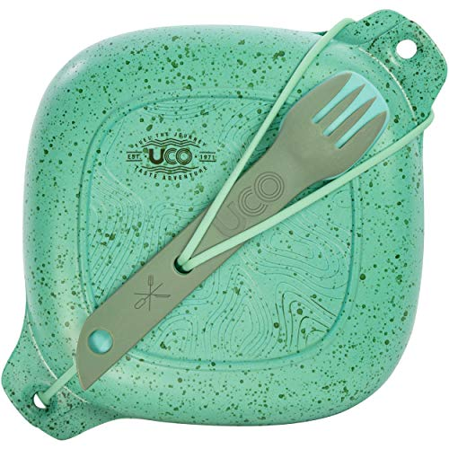 - UCO 5-Piece Lunch Kit with Bowl, Plate, and 4-in-1 Spork Utensil Set, Robin Egg Green