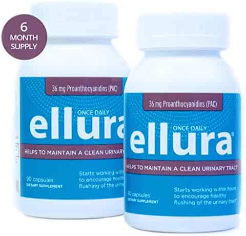 ellura 36 mg PAC (180 caps) - Medical-Grade Cranberry Supplement for UTI Prevention - Highest Potency