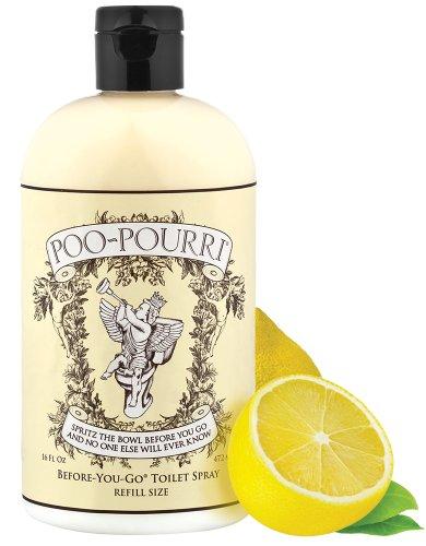 Poo-Pourri Before-You-Go Toilet Spray 16-Ounce Refill Bottle, Original