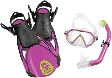 ML Mares Unisex-Youth SEA Friends Fins Mask and Mouthpiece Set Violet