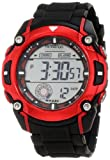 Armitron Men's 40/8272RED Large Metallic Red Accented Black Resin Strap Chronograph Watch, Watch Central