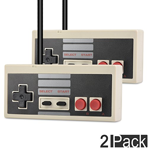 2 Pack USB Classic Nintendo Famicom Game Controller Joystick, TENETECH NES Gamepad for Windows PC Apple MAC (2 in one package)