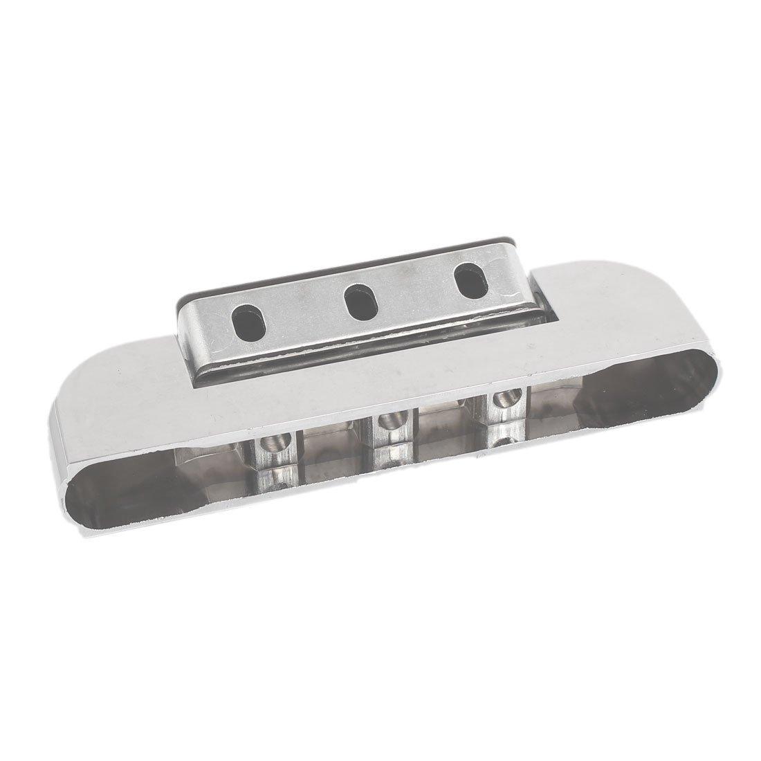 DealMux 125mm 5-inch Metal Rectangular Refrigerator Freezer Lock Door Hinge Silver Tone