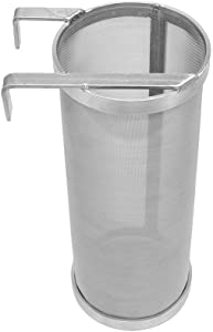 ProMaker Stainless Hop Spider Beer Keg Dry Hopper Filter Screen Strainer 300 Micron Mesh for Home Beer Brewing Kettle Kegging Equipment (4 X 10 inch)