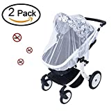 UniBetter 2 Pack Baby Mosquito Net for Strollers Carriers Car Seats Cradles Crib Bassinet Pack and Play with Large Elastic Breathable Infant Insect Shield Netting