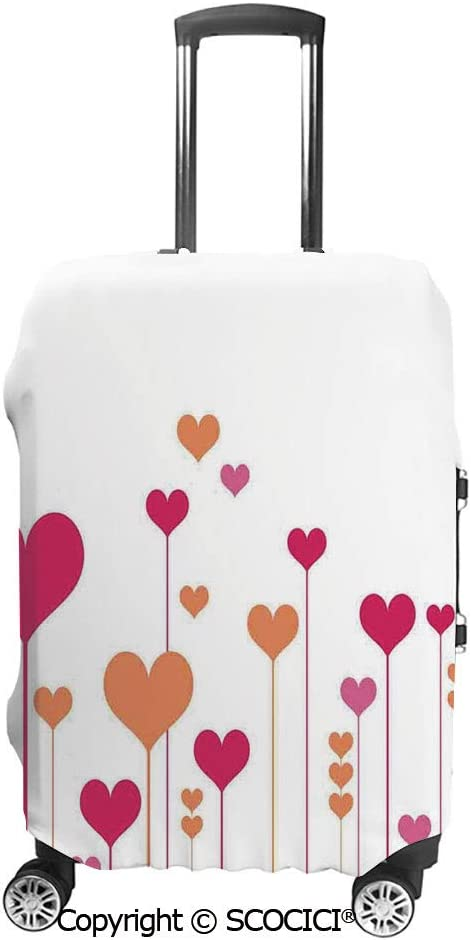 SCOCICI Luggage Cover Cute Little Ladybug on Wet Petals Water Drops Fresh Garden Protective Travel Trunk Case Elastic Luggage Suitcase Protector Cover