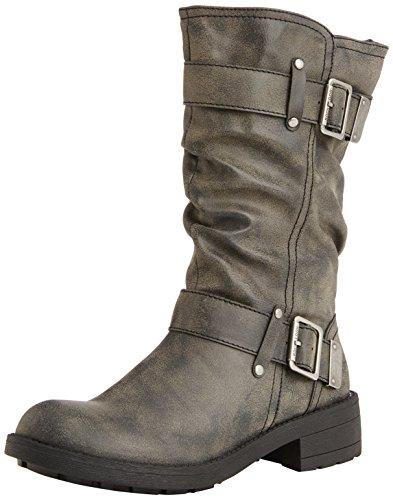 Rocket DogTRUMBLE - botas de motorista sin forro, media caña Mujer Negro - Schwarz (BLACK AG7)