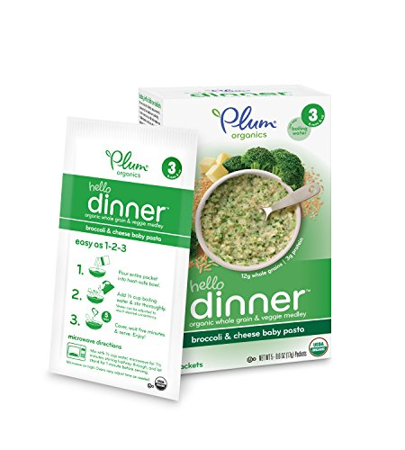 Plum Organics Baby Hello Dinner, Broccoli and Cheese Baby Pasta, 0.6 oz. packets, 5 Count,  (Pack of 6) (Babies Pasta compare prices)