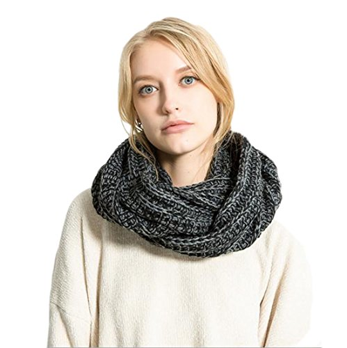 Neck Dress Knitted Loop Women's Snood Scarf Winter XueXian Wide Black Bv0wxYx