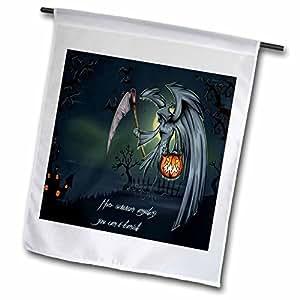 Anne Marie Baugh Halloween - The Grimm Reaper At Night - 18 x 27 inch Garden Flag (fl_65451_2)
