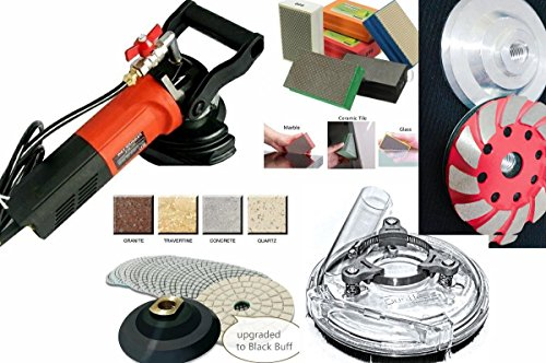 Wet Polisher Dust Shroud Electroplated Resin Hand Polishing Pad 16 Diamond Polishing Pad Buffer 4 abrasive Grinding cup granite marble concrete masonry glass terrazzo lapidary renew undermount sink by Asia Pacific Construction