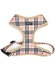 LITTLEWHALE Dog Harness No Pull, Adjustable Mesh Pet Harness, Plaid Design Soft Breathable Puppy Vest for Small Medium Dogs