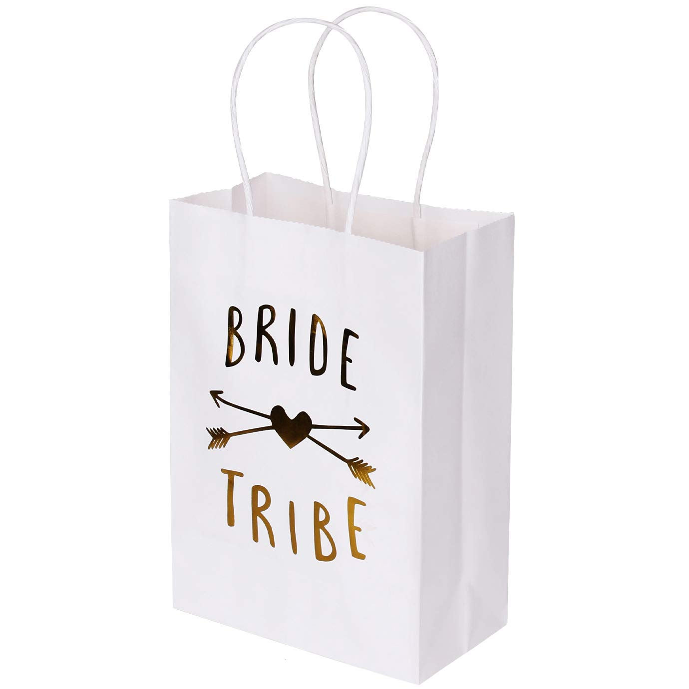 Bachelorette Party Bags Set of 12 - PojoTech Bachelorette Party Bride Tribe Gifts Bags Party Supplies Decorations for Wedding Bridal Party Bachelorette Party (White)