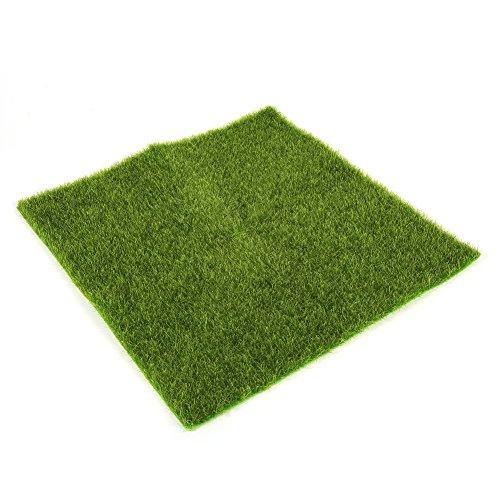 Delaman hierba artificial estera de plástico césped hierba interior exterior verde césped sintético micro paisaje...