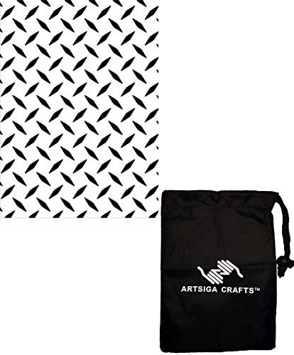 (Darice DIY Crafts Supplies Embossing Folders for Card Making Diamond Plate 4.25 x 5.75 1218-101 Bundle with 1 Artsiga Crafts Small Bag)