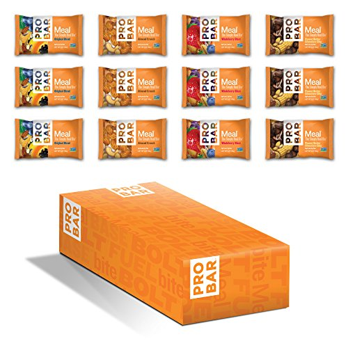 PROBAR - Meal Bar, Variety Pack, 3 Oz, 12 Count - Plant-Based Whole Food Ingredients (Discontinued)