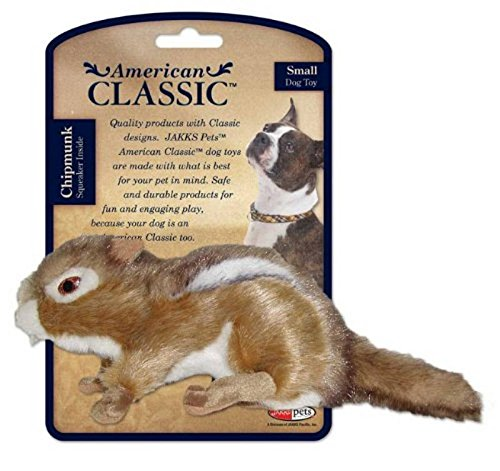 Classic Toy Dog (American Classic Fox Dog Toy With Squeaker, Small - Chew Toy, Chipmunk Design)