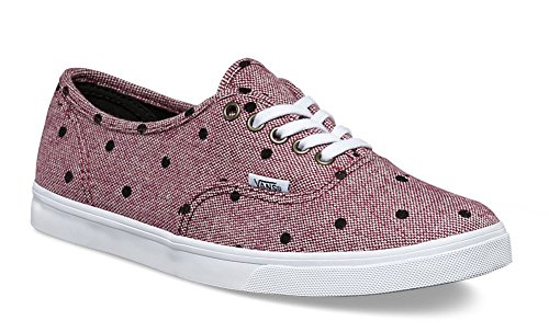 Vans Authentic Tweed True Dots White Burgundy q4nqFpdwxr