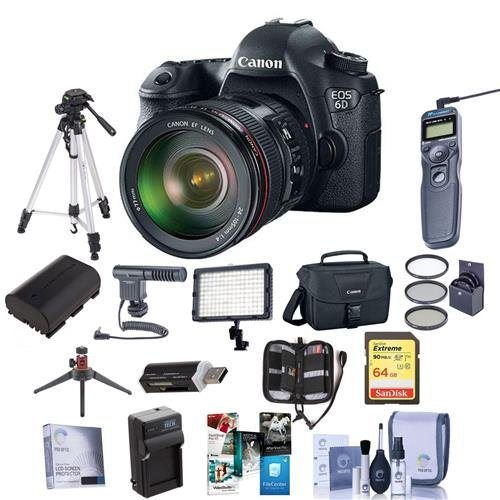 Canon EOS-6D DSLR Camera Kit with EF 24-105mm f/4L IS USM