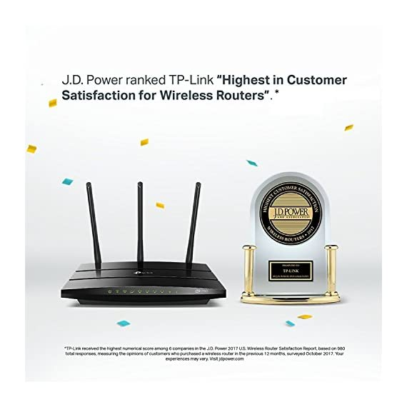 TP-Link AC1750 Smart WiFi Router - Dual Band Gigabit Wireless Internet Router for Home, Works with Alexa, VPN Server, Parental Control&QoS(Archer A7) 3 Wireless internet router works with Alexa, compatible with all Wi Fi devices, 802; 11AC and older Dual band router upgrades to 1750 Mbps high speed internet(450mbps for 2.4GHz + 1300Mbps for 5GHz), reducing buffering and ideal for 4K streaming Comparable to the router NETGEAR R6700 3 external antennas for long range Wi Fi
