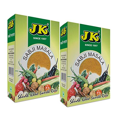 (JK CURRY POWDER 3.53 Oz, 100g (50g x 2 Packs) (Mild Natural Spice Blend, Balti Curry Seasoning, Vindaloo Curry, Sabji Masala, Vegetable Spice Mix, Vegetable stew spice mix))