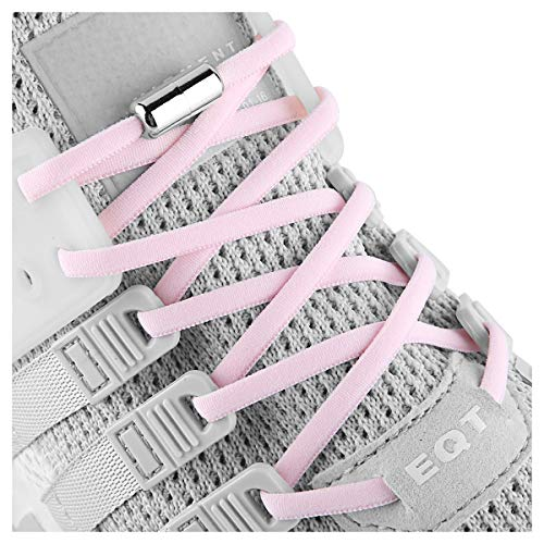 Elastic No Tie Shoe Laces For Adults,Kids,Elderly,System With Elastic Shoe Laces(2 Pairs) ()