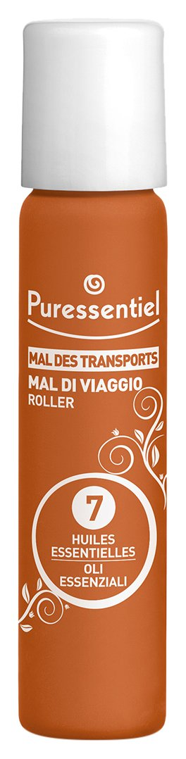 Puressentiel S.O.S. Travel Homeopathic Roll-on with 7 Essential Oils All Natural to Prevent Car, Boat, and Flight Sickness 5 Ml
