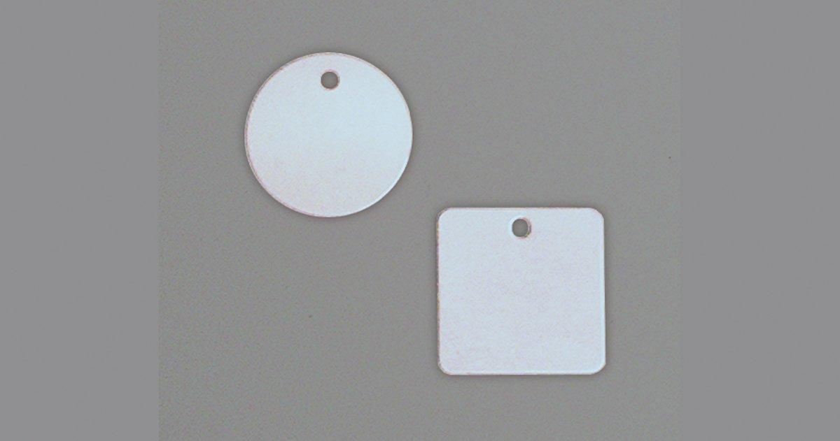 Accuform TDB354 Aluminum Blank Identification Tag, Square, 18 Gauge, 1-1/2'' L x 1-1/2'' W, 1.5'' x 1.5'' (Pack of 100)