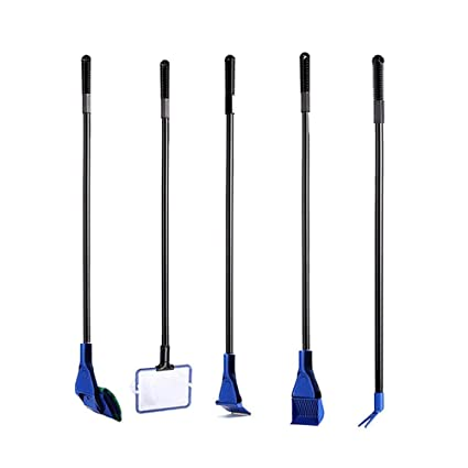 AOLVO Kit de Limpieza para Acuario, 5 en 1, Juego Completo de cepillos de