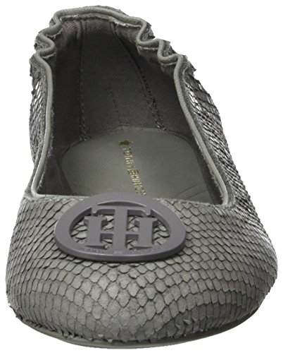Tommy Hilfiger A1285ppleton 12n, Bailarinas para Mujer Gris (Urban Grey)