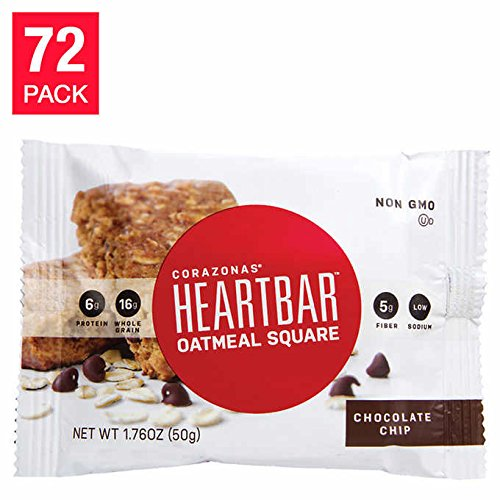 Chocolate Chip Oatmeal HeartBars, 72-pack ()