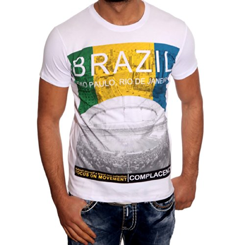 T-Shirt Poloshirt für Herren Männer Jungs Jungen A16657RN, Größe:XL, Farbe:Weiß