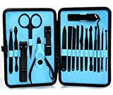 Men and Women Nail Kit | Pedicure | Manicure | Facial | Set Clippers Tweezers Cleaner Cuticle Grooming Kit 18 Pcs