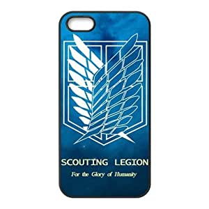 Goshoppinggo Iphone 5/5S Best Rubber Case The Hot Japanese Anime Attack on Titan Wings Of Liberty Flag