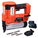 BHTOP Cordless Nailer & Stapler- 2 in 1 18Ga Heavy Tool With 18Volt 2Ah Lithium-ion Rechargeable Battery(Charger and Carrying Case) (2 Batteries)