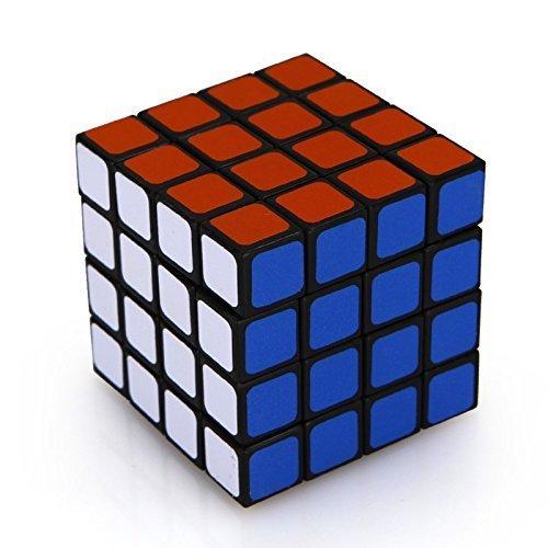 YKL WORLD Magic Puzzle 4x4 Cube Children Toy,Black