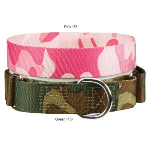 Guardian Gear ZW0716 14 43 Camo Martingale Collar for Dogs, 14 to 20-Inch, Green