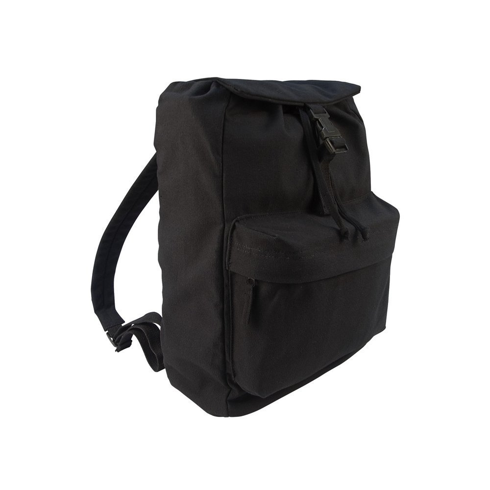 Black #2369 Day-Pack Canvas Backpack