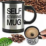 New Auto Mixing Coffee Tea Cup Stainless Plain Lazy Self Stirring Novelty Mug WP by New Unbrand