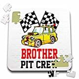 Carsten Reisinger - Illustrations - Pit Crew Brother Funny Car Race Theme Birthday Party Host - 10x10 Inch Puzzle (pzl_275702_2)