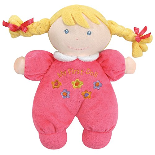 Small Doll Plush (Stephan Baby Soft Plush My First Doll with Fair Complexion and Blonde Hair, Hot Pink)
