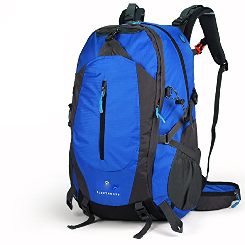 50L Outdoor Mountaineering Bolso Hombres Y Mujeres Bolsa De Hombro Viaje Pareja Mochila De Paseo,Blue Blue
