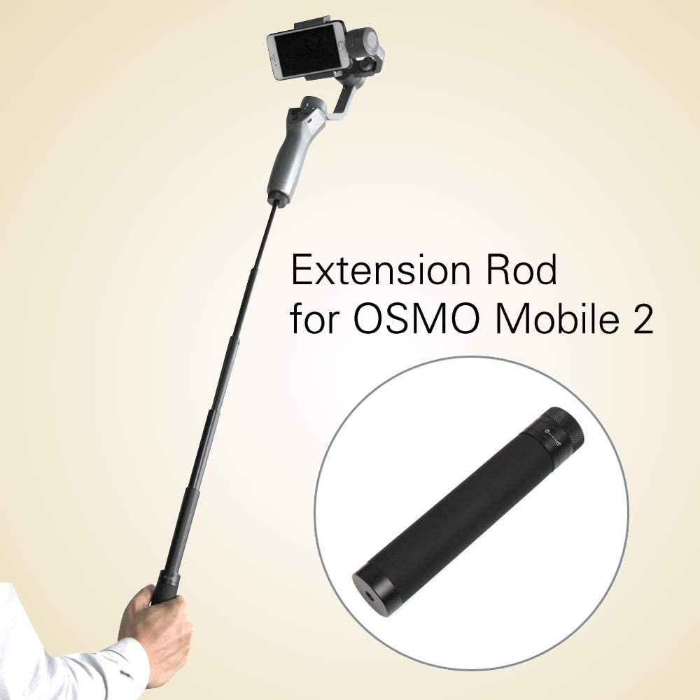Maviss Accessories Original Extention Reach Pole Rod Adjustable Tube for G6 G5 Spg DJI Osmo 2 Zhiyun Smooth 4 Handheld Gimbal Accessory