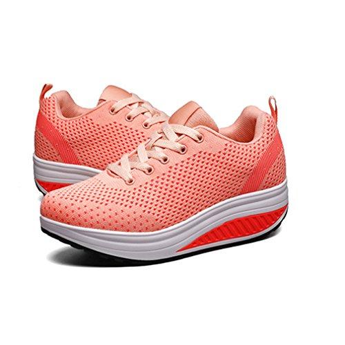 Lona Zapatillas de Running Mujer de naranja LFEU xav8qBx